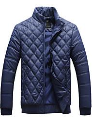 Lesmart Hombre Escote Chino Manga Larga Abajo y abrigos esquimales Negro / Verde / Azul Oscuro - PW14079