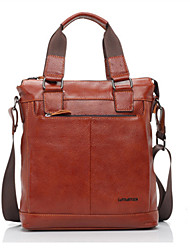 Men's Genuine Leather Messenger Shoulder Bag Crossbody Bag
