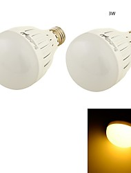 3W E26/E27 Ampoules Globe LED B 6 SMD 5730 260 lm Blanc Chaud Décorative AC 110-130 / AC 85-265 / AC 100-240 V 2 pièces