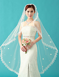 Wedding Veil One-tier Bride Elbow Veils Lace Applique Edge