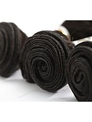 """3 шт. Партия 12 """"-26"""" необработанные 7а бразильские виргинские волосы тела волна натуральный черный remy человеческий волос переплетение 40 г / пучки"""