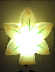 Creative Warm White Leaves Light Sensor Relating to Baby Sleep Night Light(Random Color)