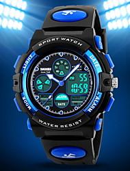 SKMEI® Men's Double Time Analog & Digital Rubber Band Quartz Watch Wrist Watch Cool Watch Unique Watch