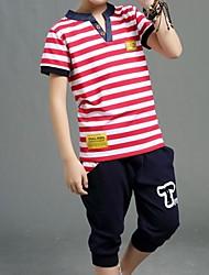 Boy's Cotton Clothing Set,Summer Striped