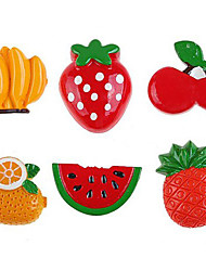 1Pcs Resin Vegetables Fruit Style Kitchen Fridge Magnet Sheet Funny Gift(Random Color)