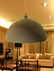 12W Vintage LED Others Aluminum&Rope Pendant Lights Living Room / Bedroom / Dining Room / Study Room/Office / Hallway