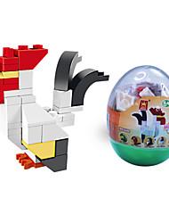 dr wan, le Bausteine Mini-Tier Eierverpackungen Puzzle Montage Bausteine Spielzeug der Hahn