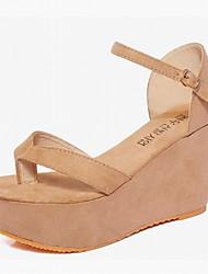 Women's Shoes Leatherette Platform Peep Toe / Platform / Creepers Sandals Office & Career / Dress / Casual