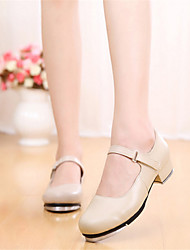 Non Customizable Women's Dance Shoes Tap Leather Low Heel Other