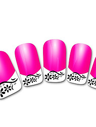abstraites xf821 rose 3d français ongles autocollants
