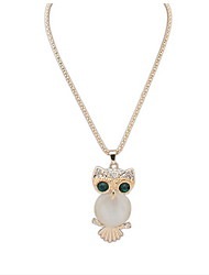 New Brand Fashion Charms Crystal Owl Necklace Simulated Diamond Gold Long Chain Necklaces