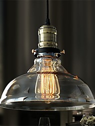 40 Pendelleuchten ,  Rustikal/ Ländlich Galvanisierung Feature for Designer GlasWohnzimmer / Schlafzimmer / Esszimmer /