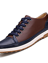 Men's Shoes Casual Leather Fashion Sneakers Blue / Brown / Yellow