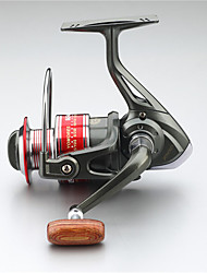 Metal  Fishing Spinning Reel 12 Ball Bearings  Exchangable Handle-KF4000