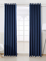 Two Panels Curtain Modern , Solid Bedroom Rayon Material Blackout Curtains Drapes Home Decoration For Window