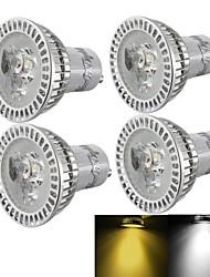 3W GU10 Spot LED R63 3 LED Haute Puissance 300 lm Blanc Chaud / Blanc Froid Gradable / Décorative AC 110-130 / AC 85-265 / AC 100-240 V4