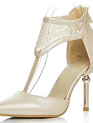 Zapatos de mujer-Tacón Stiletto-Tacones / Tira en T / D'Orsay y Dos Piezas / Puntiagudos-Tacones-Vestido / Fiesta y Noche-Encaje /