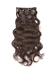 """15 """"-22"""" Clip brazilian dans le corps ondulé 7pcs balck naturel / Set Clip épaisseur complète dans les extensions de cheveux humains"""