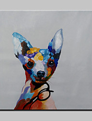 Handmade Modern Lovely Dog Animal Dog Oil Painting On Canvas For Living Room Home Decor Wall Paintings Whit Frame