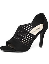 Women's Shoes Leatherette Chunky Heel Heels / Peep Toe / Basic Pump / Comfort / NoveltySandals /Fashion Sneakers /