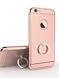 luxe plaquent 3 en 1 de protection dur le cas du support de bague de recouvrement avec support pour 6s iphone plus / iphone 6, plus