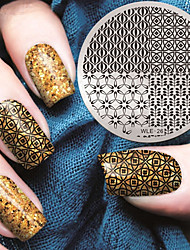 2016 Latest Version Fashion Geometric Pattern Nail Art Stamping Image Template Plates