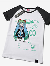 Inspired by Vocaloid Hatsune Miku Anime Cosplay Costumes Cosplay T-shirt Print Yellow Short Sleeve T-shirt