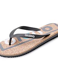Men's Shoes Outdoor / Casual PU Flip-Flops Black / Gray