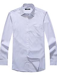 Sieben Brand® Herren Hemdkragen Lange Ärmel Shirt & Bluse Hellblau-704A3B5859