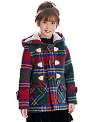 Girl's Blue / Red Jacket & Coat Cotton Winter