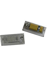 2pcs bm-w Mini Cooper führte Kfz-Kennzeichenlampe 12V 14W LED mit speziellen führte decorder