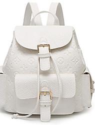 Women PU Backpack White / Pink / Silver / Black