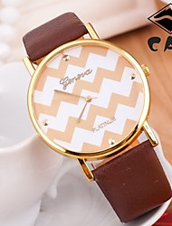 reloj mujer Feminino  Mascuino Relojes  Pattern PU Band Brand New Women Watch Geneva Quartz Ladies Wrist Watches