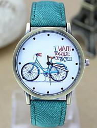 Mulheres Relógio de Moda Quartzo Tecido Banda Azul Vermelho Marrom Verde Cinza Rosa # 4 # 5 # 6 # 7 # 8