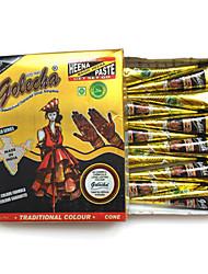 Хэллоуин Индии golecha Hanna черного племени временные краски татуировки крем 30г (одну покупку)