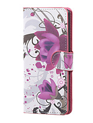 For Wiko Case Card Holder / with Stand / Flip / Pattern Case Full Body Case Flower Hard PU Leather Wiko