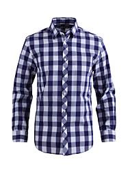 JamesEarl Herren Hemdkragen Lange Ärmel Shirt & Bluse Lila - DA112021918