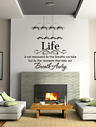 Words & Quotes Wall Stickers,PVC