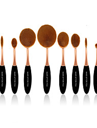 10 Pcs Master Rose Gold Makeup Brushes Set Synthetic Hair Professional / Plastic Face / Eye / Lip MAKE-UP FOR YOU