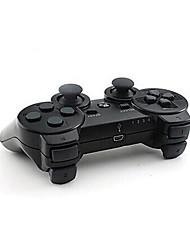 dual shock draadloze bluetooth game controller + knop beschermer + siliconen case + kabel voor ps3