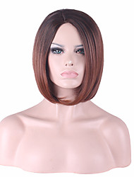 Top Quality Ms In Europe and The New Golden Brown Short Straight Hair Synthetic Wigs