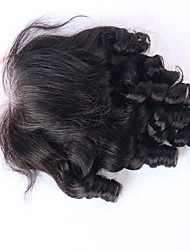 Bouncy Curly Human Hair Lace Closure With Baby Hair