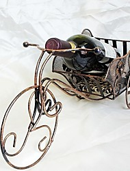 Fashion Creative Wine Holders Upscale Wrought Iron Tricycle Wine Rack Beer Display Rack