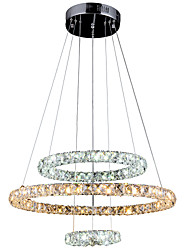 Modern LED Crystal Pendant Lights Ceiling Chandeiers Lamps Lighting for home Hotel with 3Ring 204060CM 54W CE FCC ROHS