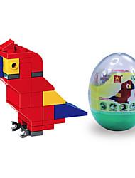 dr wan, le blocs de construction oeuf mini animaux emballer les blocs de construction d'assemblage de puzzle perroquet jouets