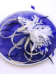 Women's Feather Flax Headpiece-Wedding Special Occasion Casual Outdoor Fascinators 1 Piece