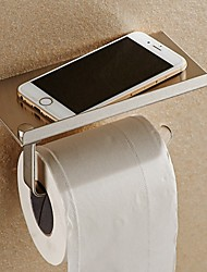 Toilet Paper Holder Phone Holder SUS 304 Stainless Steel,Contemporary Chrome Wall Mounted