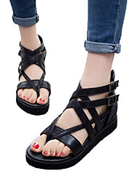 Women's Shoes Hollow Out Flipflop Wedge Heel Gladiator / Comfort / Open Toe Sandals Outdoor / Casual