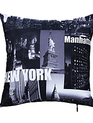 Polyester Pillow With Insert,Cities Modern/Contemporary 16x16 inch