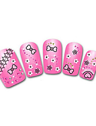 Lovely Pink Snow Leopard Lace Nail Jewelry